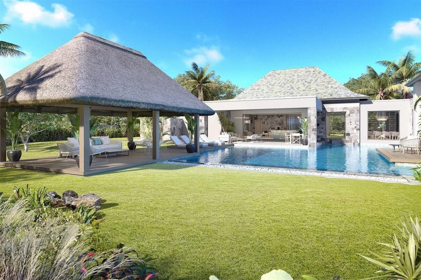 Villa Grand Baie - jardin et piscine - PLEION Private Services