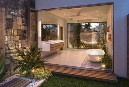 Villa Grand Baie - salle de bains & jardin privé - PLEION Private Services