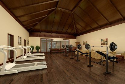 Villa à Pereybere,salle de sport - PLEION Private Services