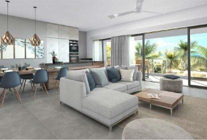 Vue living - Achat appartements de luxe à île Maurice